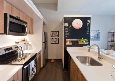 Chocolate Works Philadelphia apartment kitchen with modern appliances