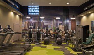 MetroFit stationary bikes, Reinhold Residential's fitness center for Philadelphia apartments