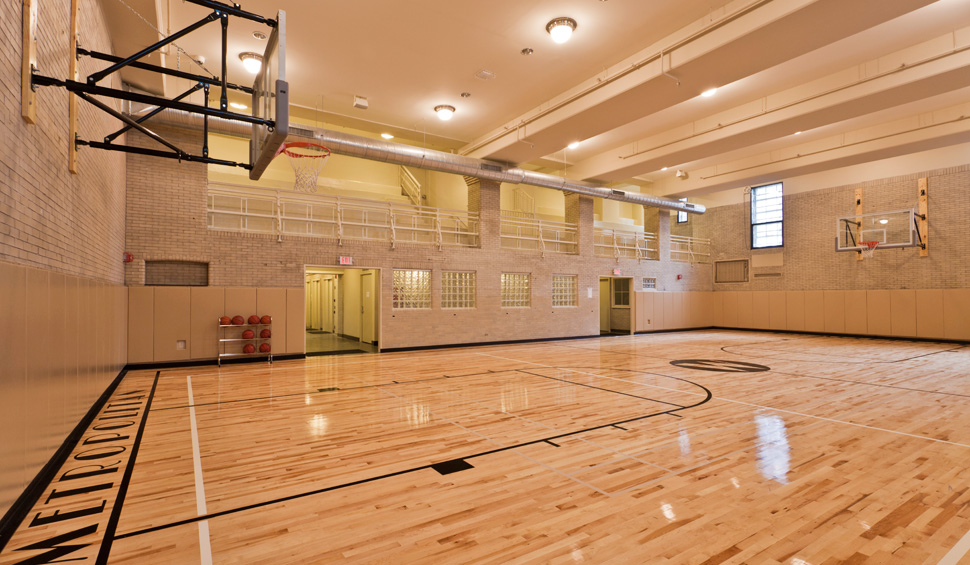 MetroFit gymnasium for basketball and dodgeball leagues
