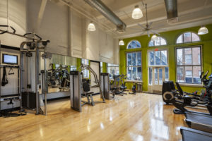 apartment on-site fitness center Chocolate Works Philadelphia