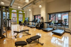 chocolate works on-site fitness center in Old City