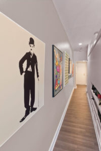 Apartment hallway at Chocolate Works in Philadelphia