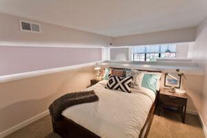 apartment bedroom at Chocolate Works in Philadelphia