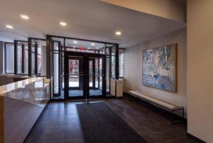 Chocolate Works Philadelphia apartment lobby entrance