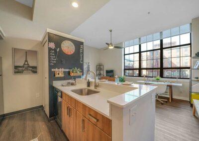 Chocolate Works apartment kitchen