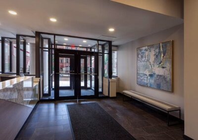 Old City Apartment Building lobby entrance at Chocolate Works