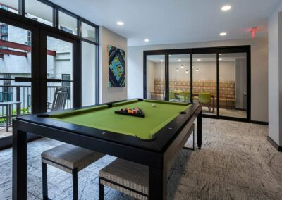 Chocolate Works Resident Lounge with Pool Table in Old City