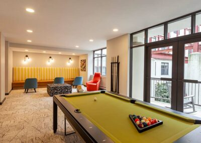 Resident Lounge with Pool Table at Chocolate Works in Old City